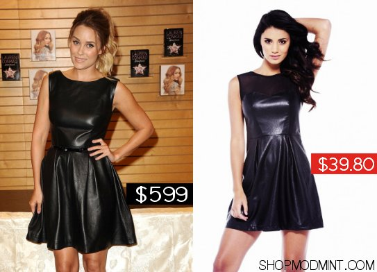 lauren conrad leather dress